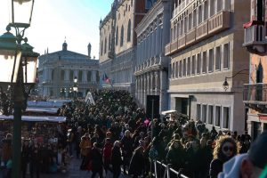 Happily surviving crowded Venice during Carnival
