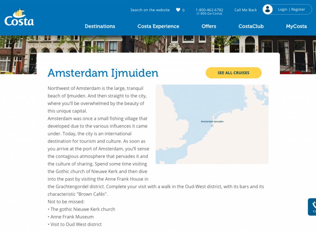 IJmuiden marketed as Amsterdam