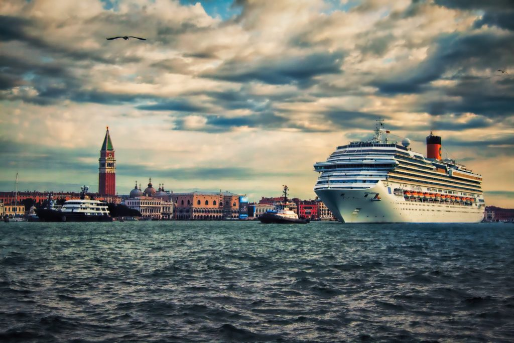 A Costa Cruise Lines ship in Venice (not involved in incident)
