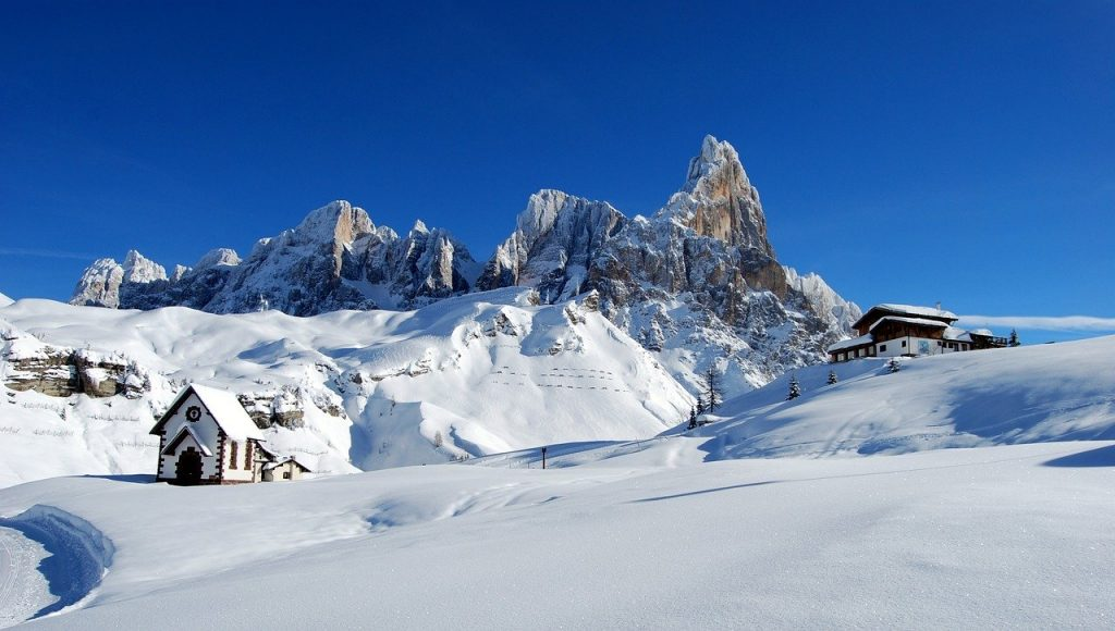 Winter in Italy's alps