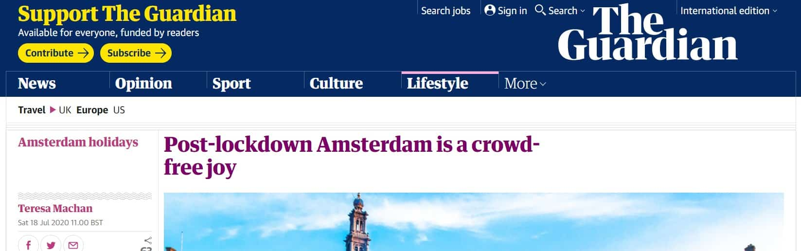 When you offer The Guardian a free trip to Amsterdam
