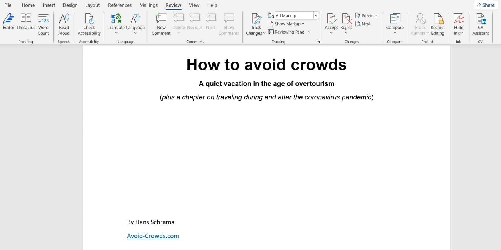 Launching a book: How to Avoid Crowds