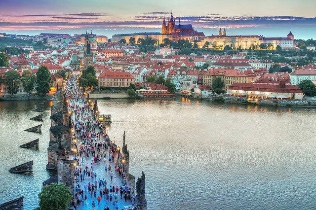 Prague is normally a very crowded tourist destination