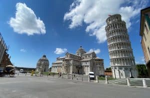 Low crowds in Pisa no COVID