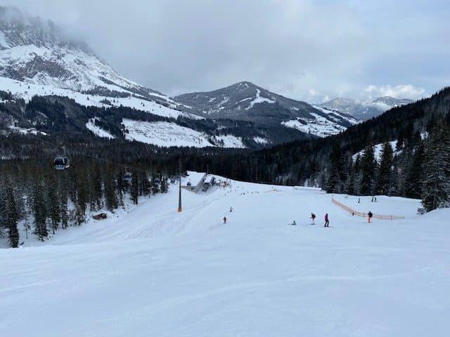 Quiet slopes in Austria during lockdown