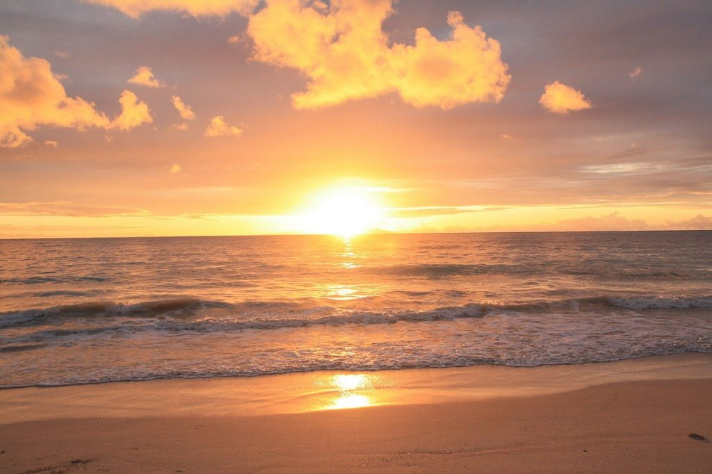 Sunrise - best time to visit Oahu