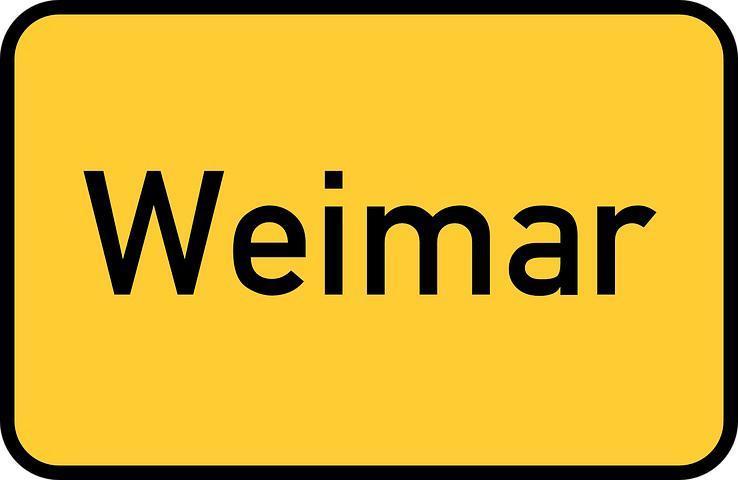 Street sign Weimar Alternative Destinations Germany Avoid Crowds 1