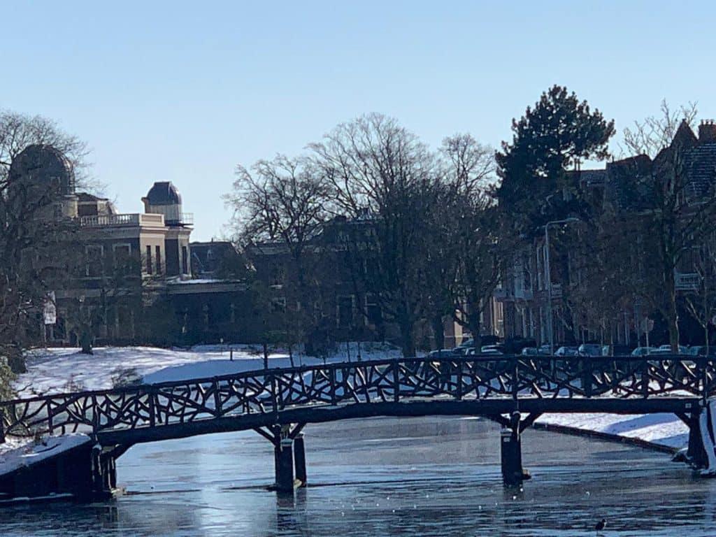 Leiden Singelpark frozen